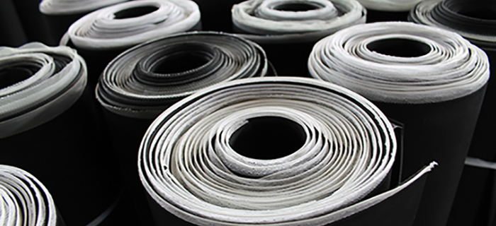 Rolls of cloth inserted black SBR rubber - GCP Industrial Products