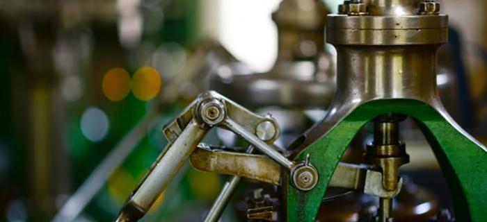 Close up of a machine